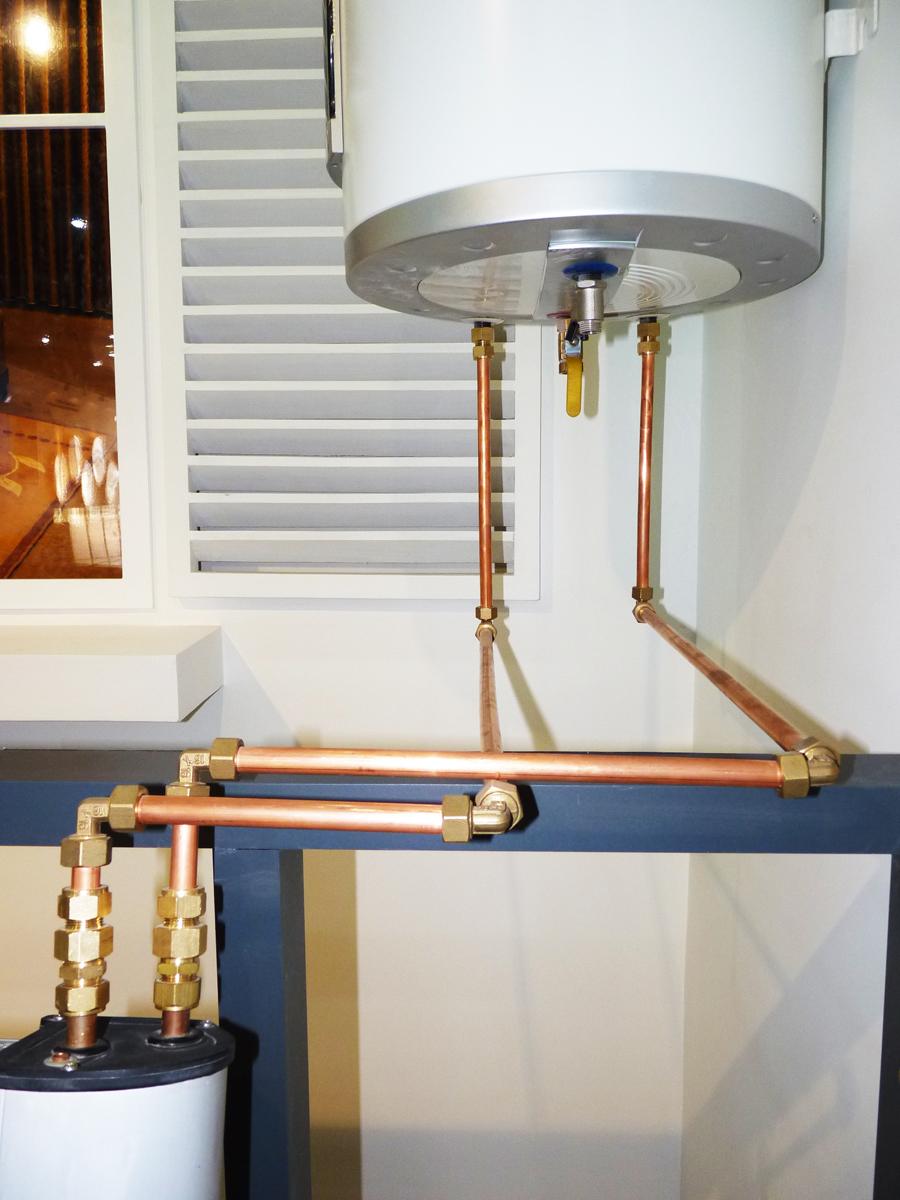 Подсоединение циркуляционного трубопровода солнечного водонагревателя